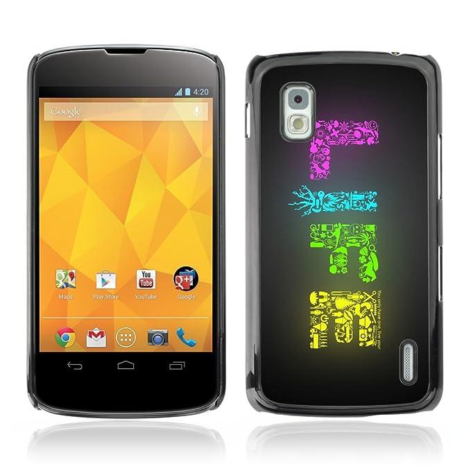 KIKI-Tech Carcasa para LG Nexus 4 gooie - la vida colorida ...