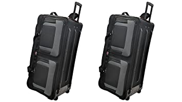 9ddc678551 Image Unavailable. Image not available for. Color  TWO PCS Amaro 36 Inch  1200d Explorer Rolling Duffle ...