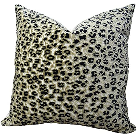 Plutus Home Decor Accent Cheetah Handmade Throw Pillow Double Sided 20 X 36 King