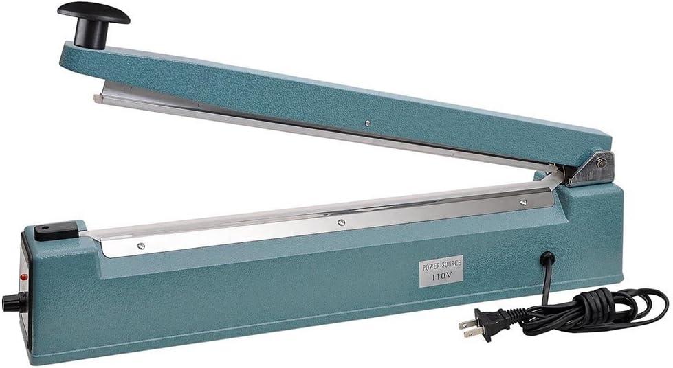 PrimeTrendz Hand Impulse Sealer Heat Seal Machine Poly Sealing With Element Grip and Teflon 20 Inch