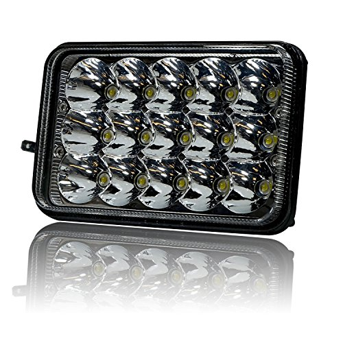 GENSSI 4x6 LED Headlight Sealed Beam Replacement HID Xenon H4651 H4652 H4656 H4666 H6545 (1 Lamp Only) (Beam Headlight Sealed Replacement)