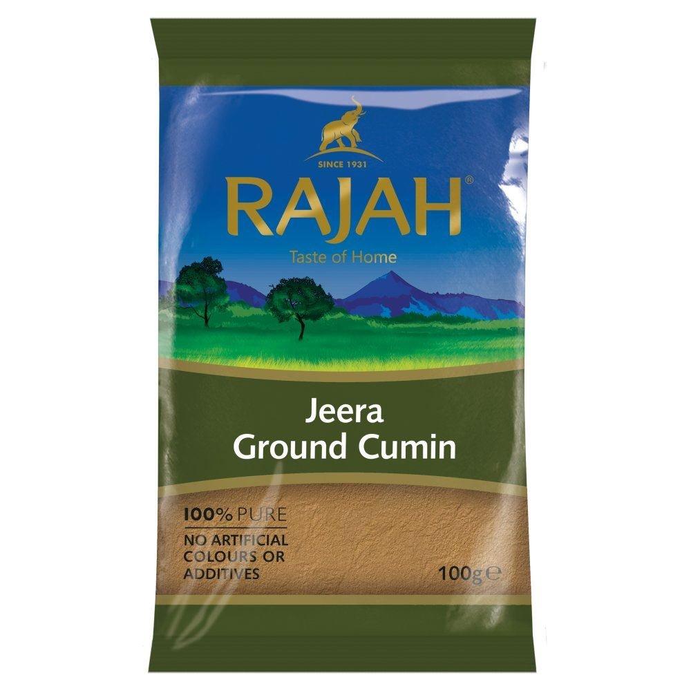 Rajah Spices Jeera Ground Cumin | Jeera | Cumin Powder | Jiru | JIRA | (100g)