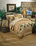 Kona Tropical Bedding 8 Pc Queen Comforter Set (Comforter, 1 Flat Sheet, 1 Fitted Sheet, 2 Pillow Cases, 2 Shams, 1 Bedskirt) SAVE BIG ON BUNDLING!