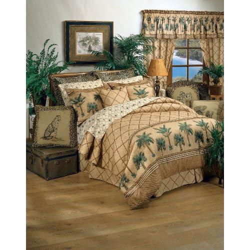 Discount Kona Tropical Bedding 8 Pc Full Comforter Set (Comforter, 1 Flat Sheet, 1 Fitted Sheet, 2 Pillow Cases, 2 Shams, 1 Bedskirt) SAVE BIG ON BUNDLING!
