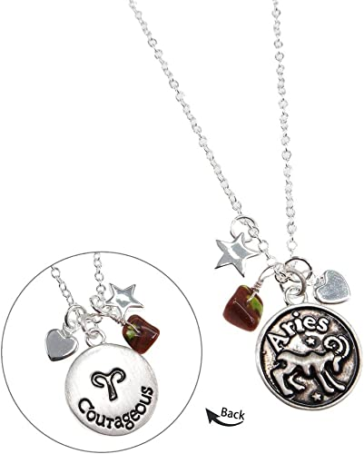 Sterling Silver Gold Plated Aries Zodiac Pendant Astrology Horoscope jewelry