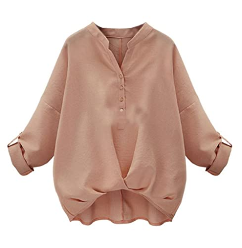 Camisetas Mujer Elegantes T Shirt Cmisetas Con Manga Larga De Color SÓLido Ocasional Camisa Tallas G...
