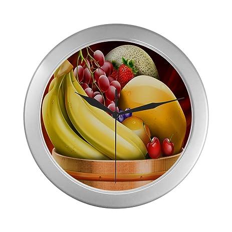 Amazon.com: Grape Banana Strawberry Fruit Unique Silver Elegant Wall ...