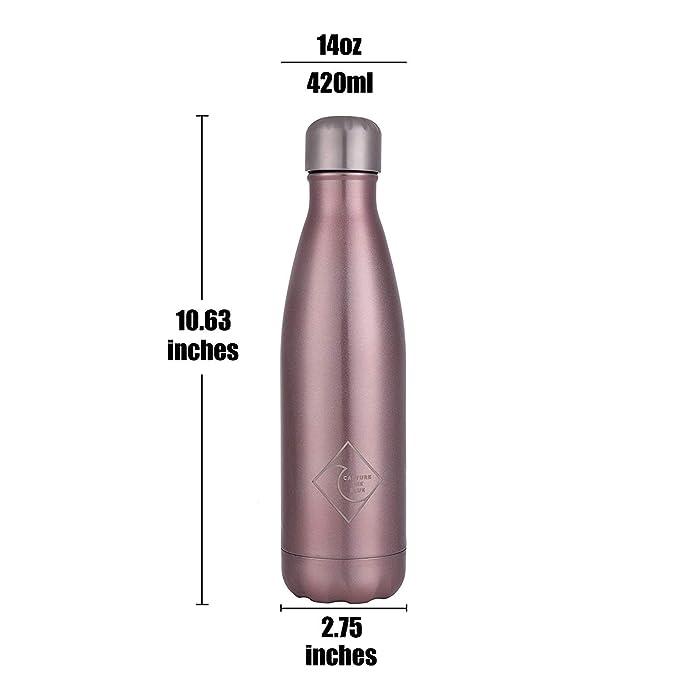 Amazon.com: Captura la botella de agua de acero inoxidable ...