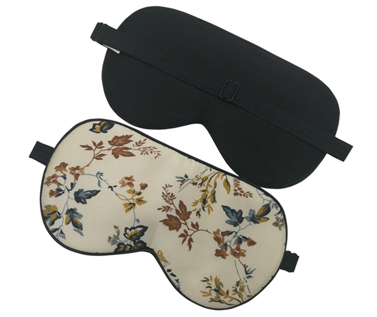 Maxfeel Feel 100% Pure Silk Eye Mask Sleep Eye Mask Eye Cover Eyeshade Sleeping Eye Mask Floral Colors (#35) SEM-AP