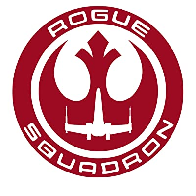 UR Impressions DRed Rogue Squadron Decal Vinyl Sticker Graphics for Cars Trucks SUV Vans Walls Windows Laptop|Dark RED|5.5 inch|URI207-DR: Automotive
