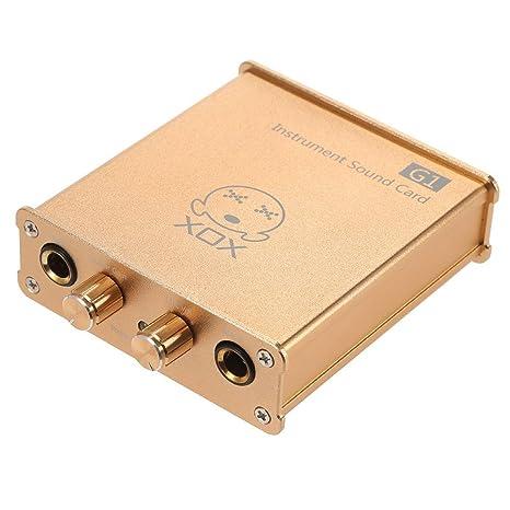 ammoon XOX G1 Tarjeta de Sonido de Instrumentos Compatible ...