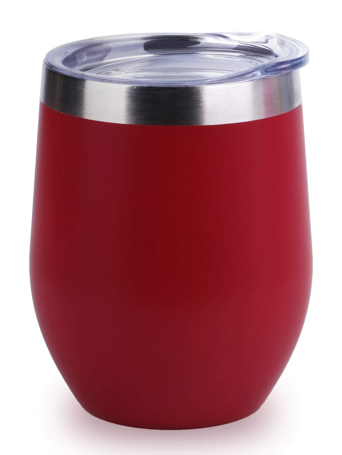 06f6dc678c6 Details about Insulated Wine Tumbler with Lid Stemless Stainless Steel  Insulated Wine Glass