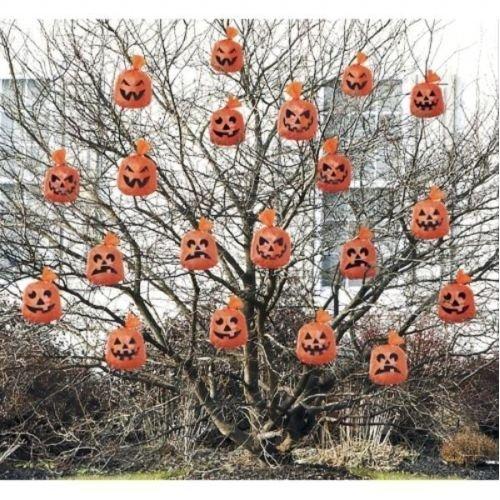 Halloween Pumpkin Hanging Leaf Bags x 20