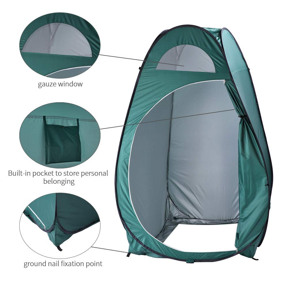 BELUPAI Portable Changing Room Privacy Tent, Camping Shower Tent Camp Toilet Rain Shelter Backpack Shelter with Carrying Bag, 6.23 ft Tall by BELUPAI