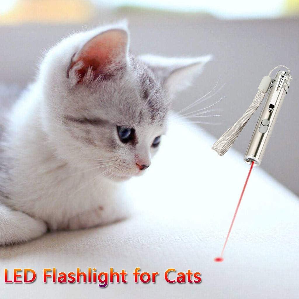 Molyveva Puntero LED para Gatos, Juguete Interactivo para Mascotas, Gato con Cable USB: Amazon.es: Hogar