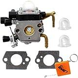 HURI Carburateur et Pompe d'Amorçage Joints pour STIHL HS81 HS81R HS81RC HS81T HS86 HS86R HS86T Taille-haies Remplacer 4237 120 0606 / ZAMA C1Q-S225