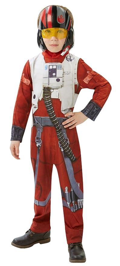 Rubies Official Star Wars Poe X-Wing, Traje de Luchador Clásico para niños, Multicolor, Large (7-8 años)