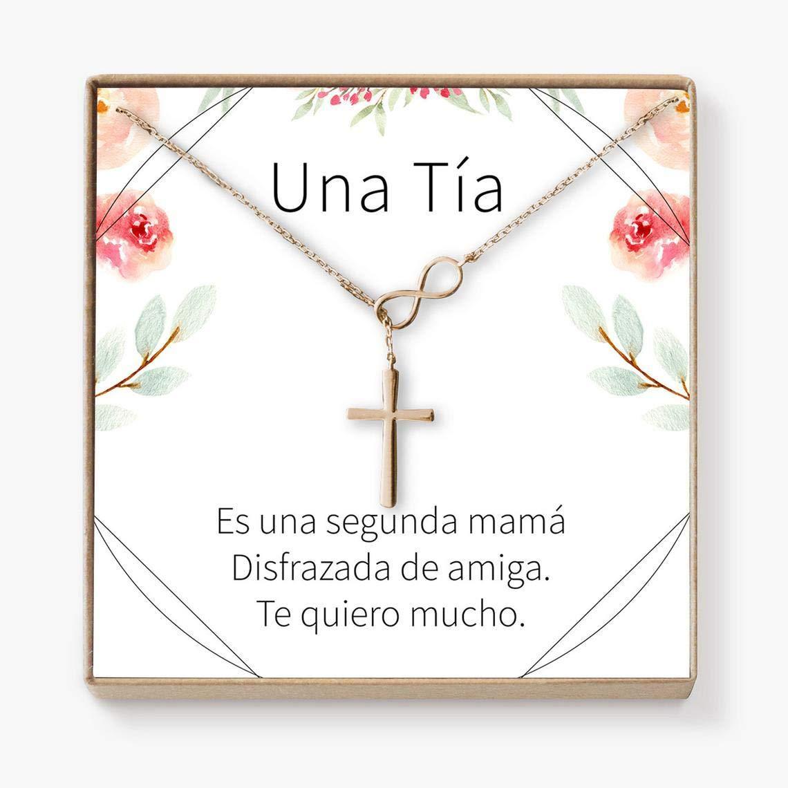 Amazon.com: xatify Collar Regalo para Tía: Joyería para Tía ...