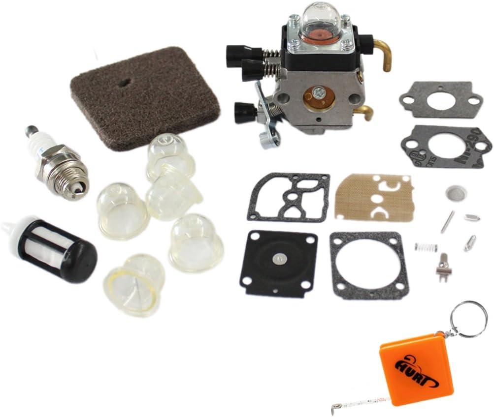TOPINCN Vergaser Kit Ersatz f/ür STIHL FS55 FS55R FS55RC KM38 HL45 KM55R Preiswerter Motor Rasenm/äher Zubeh/ör