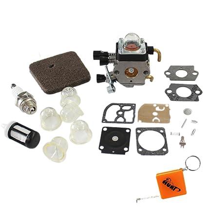 Carburador HURI Filtro de aire y reparación de membrana ...