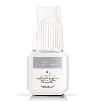 ec046665c00 LANKIZ Individual Eyelash Glue - 5ml SENSITIVE Semi Permanent Eyelash Glue  LOW Fume 5 Sec Drying