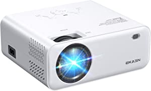 """Movie Projector, EKASN Creative E450 Portable Projector 1080P Supported Home Theater Outdoor Video Projector with 128"""" Projection Size, Compatible with TV Stick, PS4, HDMI, VGA, AV and USB"""