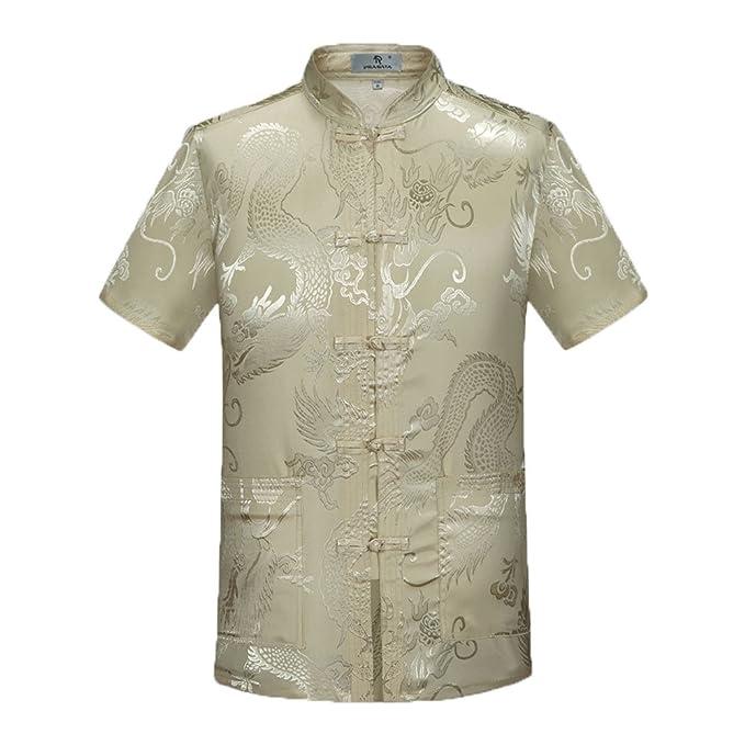 Amazon.com: airuiby Tang traje hombre Chino tradicional ropa ...