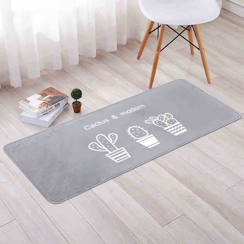 bd jfew Kitchen rug Carpet non slip mats by absorption from the water in the oil test machine washable, thickness 10mm, 4 types of specifications (Color Light Gray, Size: 4060cm)