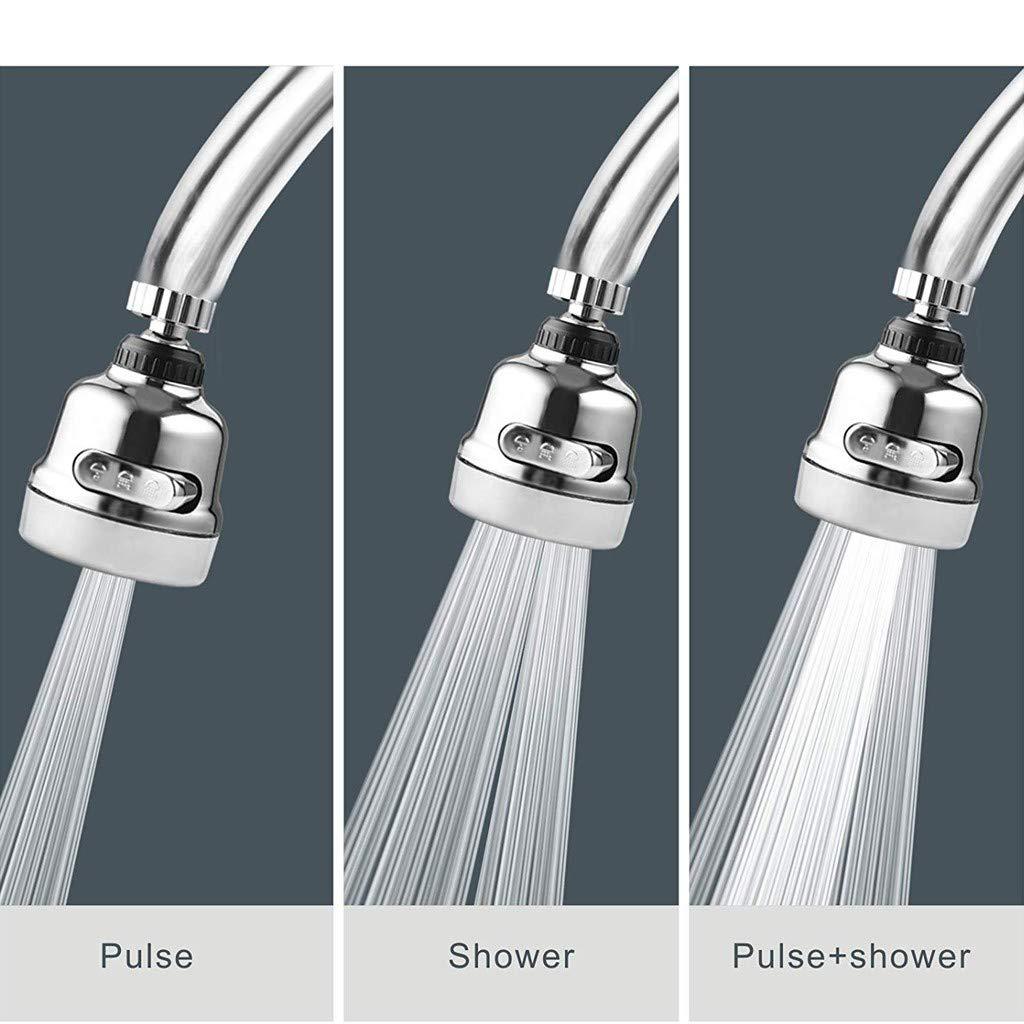 Altsommer Ahorro de grifo Cabeza giratoria del rociador del grifo Anti Splash Tap Booster Shower Ahorro de agua