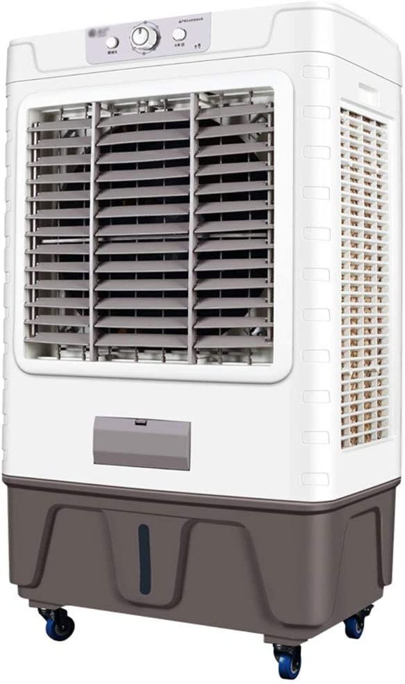 GXFC Enfriador de Aire evaporativo | Ventilador humidificador climatizador 3 en 1 | 10000m³ / H Volumen de Aire Grande | Tanque de Agua 50L | Oscilación Automática | para Uso Comercial o Industrial: Amazon.es: Hogar