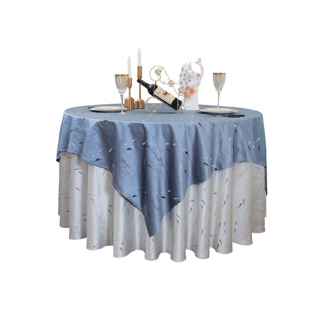 テーブルクロス テーブルクロスのカスタムホテルのテーブルクロスヨーロッパのモダンなファブリックレストランのレストランラウンドホーム大きなラウンドテーブルクロス (Color : Blue, Size : 140cm) 140cm Blue B07S9YV2VD