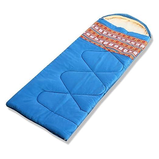 Sharplace 1 Pieza Saco de Dormir Tipo Sobre Bajo Edredón Al Aire Libre Multisuso Unisexo - Azul: Amazon.es: Deportes y aire libre