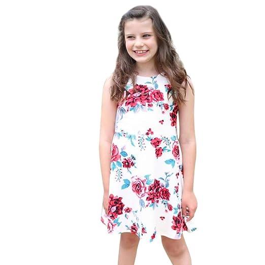1a793a69d58 Franterd Mom   Me Parent-Child Boho Floral Beach Sundress Sleeveless Slim  Splice Above Knee