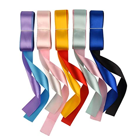 New Assorted Colour Satin Silk Ribbons Xmas Gift Wrapping 16mm Craft Sewing Kit Crafting Pieces Multi-Purpose Craft Supplies