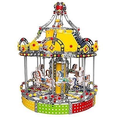 Animated Motorized Carousel Construction Model Kit (1423 Pieces)