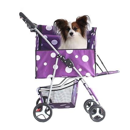 GLGL Cochecito para Mascotas Perro Carro Plegable Desmontable y Lavable división Coche para Paquete Osito de
