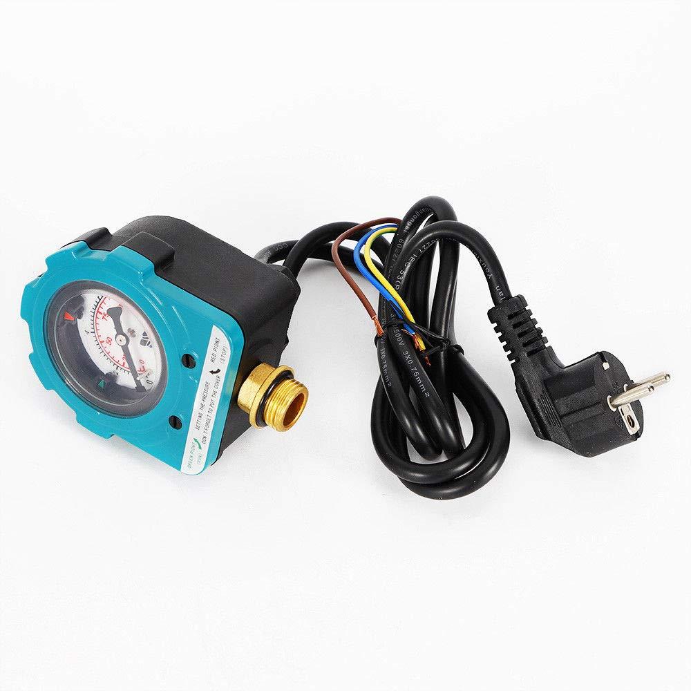 OUKANING Pumpensteuerung 10 bar Druckw/ächter Pumpensteuerung,Druckschalter,/überwacht den Wasserdruck