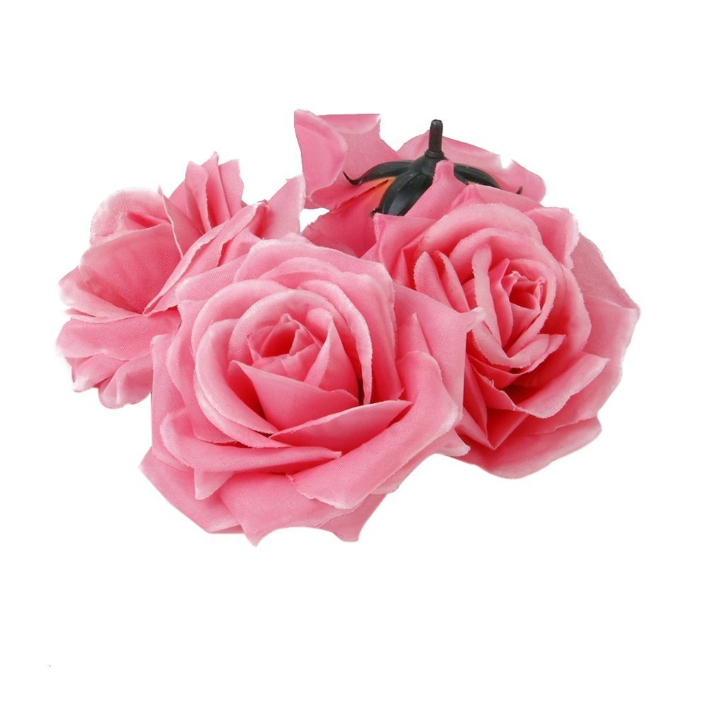 Winomo Artificial Rose Flowers Heads Buds 20pcs (Pink)