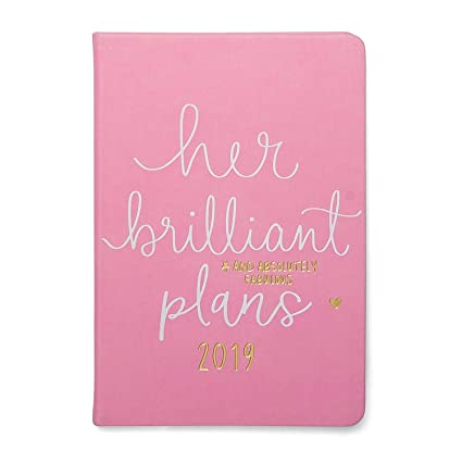 "2019 Eccolo Designer ""Her Brilliant Plans"" Flexible Agenda Planner, Monthly & Weekly Views, 5.25 x 7.75"