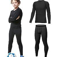 HOPLYNN - Juego de ropa interior térmica para niños, ropa interior funcional, ropa interior de esquí para jóvenes…