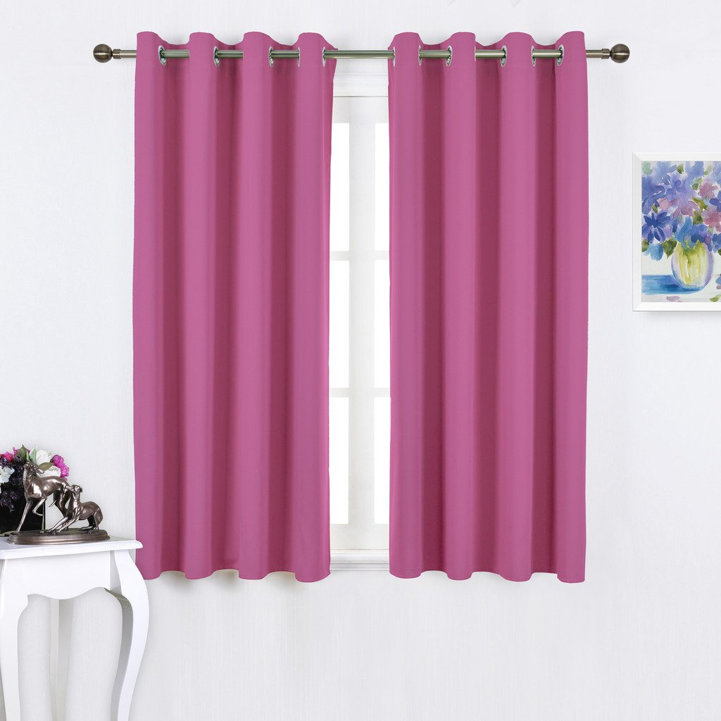 Nicetown Blackout Curtain Panels Grommet - Thermal Insulated Solid Grommet Blackout Drapes / Draperies for Girl's Room