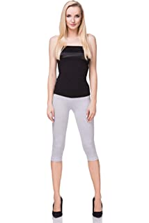 f2ae186cea1b3f FUTURO FASHION 3/4 Leggings Cropped Cotton Extra Comfort Range, Plus Sizes