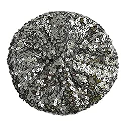 A4-silver colored Sequin Beret Beanie Hat