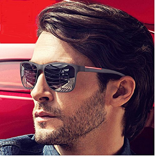 Black Square Sun Glasses For Men Gradient UV400 Sunglasses Men Brand Designer 2017 New Oculos Shades Male - Sunglasses New 2017