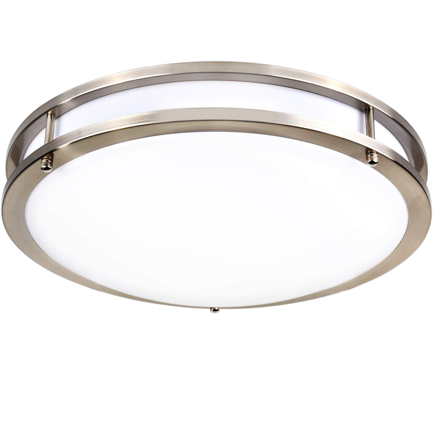 Hykolity 14 Inch LED Ceiling Light, 22W [160W Equivalent] 1650lm 4000K BN Finish Dimmable Saturn Flush Mount Ceiling Light, ETL Listed for Hallway, Bathroom,Kitchen, Bedroom, Restroom, Walk in Closet