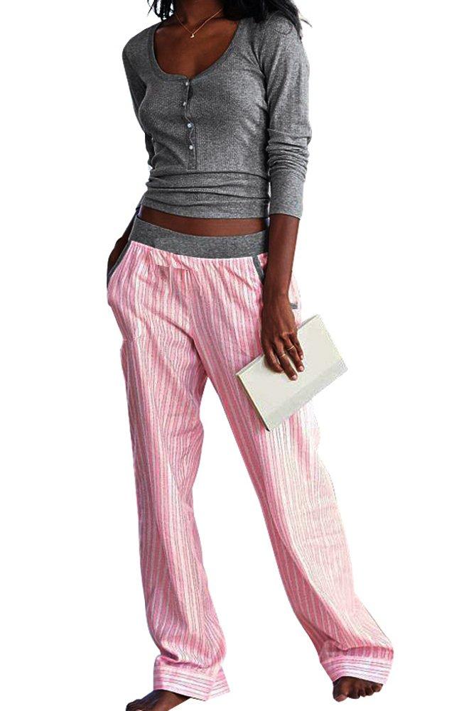 Victoria's Secret Women's The Dreamer Henley Pink Pajama 2 Piece PJ set Large