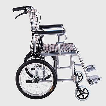 Silla de ruedas de conducción médica, silla de ruedas ligera plegable de acero para niños mayores portátiles silla de ruedas: Amazon.es: Salud y cuidado ...