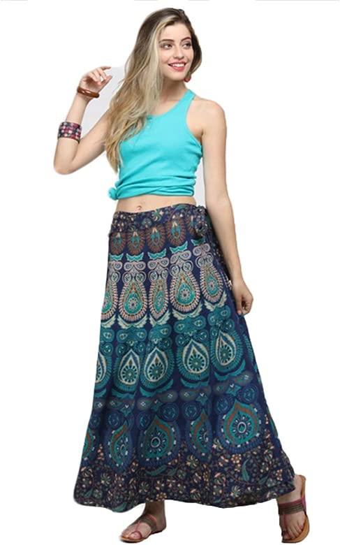 Aiweijia Vestido Largo Bohemio de Las Mujeres Hippie Retro étnico ...