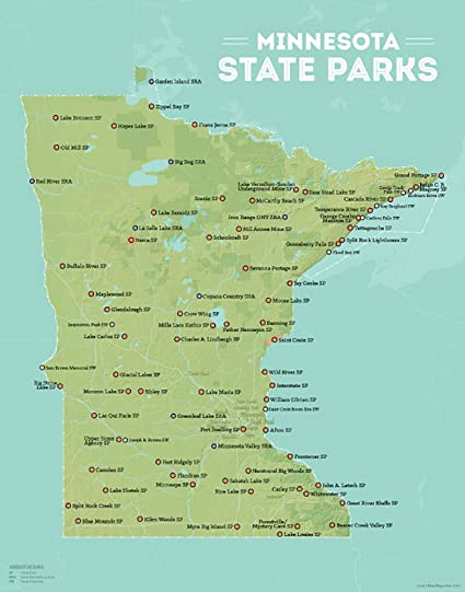 Amazon.com: Best Maps Ever Minnesota State Parks Map 11x14 Print ...
