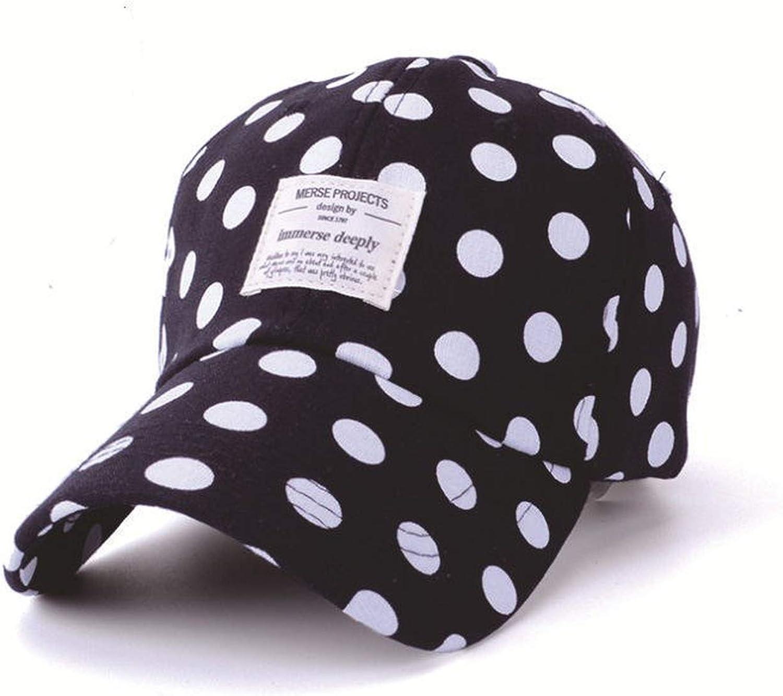 Fashion Dot Baseball Cap for Men Women Patch Letter Snapback Caps Adjustable Cotton Summer Cap